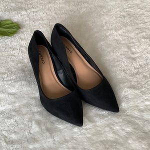Torrid Black Faux Suede Heels